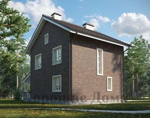 Простой дом с вальмовой крышей и холодным чердаком